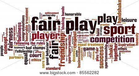 Fair Play Word Cloud