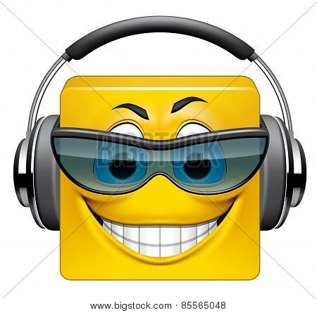 Square Emoticon Dj