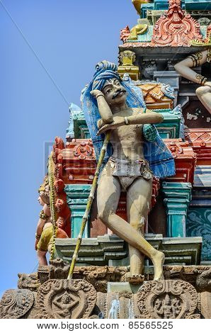 Detail  of indian Kapaleeswarar temple
