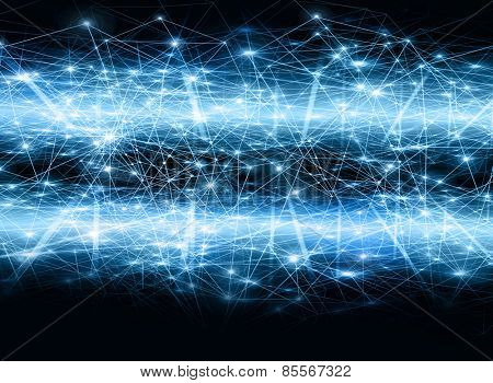 Abstract blue background. Technology background, from series best concept of global business