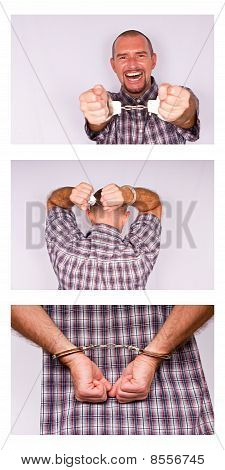 Man in handcuff