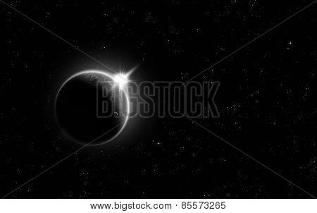 Minimalistic Solar Eclipse