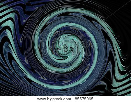 abstract turning blue circles