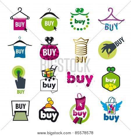 Big Set Of Vector Icons For The Purchase Of Goods