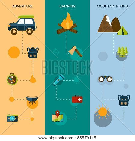 Camping Banners Vertical