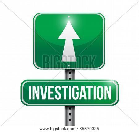 Investigation Road Sign Concept Illustration
