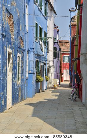 Typical Burano Alley