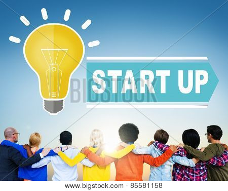 Start up Ideas Aspiration Team Connection Concept