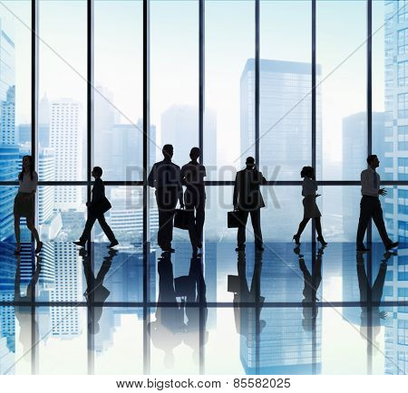 Business People Corporate Travel Office Concept
