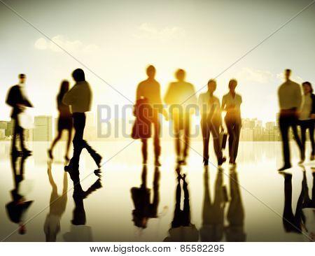 Business People Commuter Corporate Cityscape Pedestrian Concept