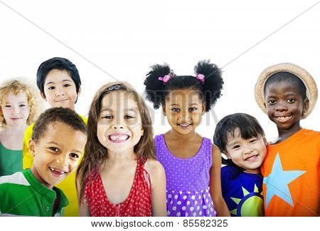 Children Kids Happines Multiethnic Group Cheerful Concept