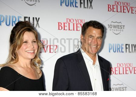 LOS ANGELES - MAR 16:  Gigi Rice, Ted McGinley at the