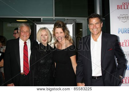 LOS ANGELES - MAR 16:  Bob McGinley, Emily McGinley, Gigi Rice, Ted McGinley at the