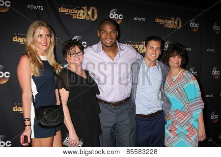 LOS ANGELES - MAR 16: Guest, Foster Mother, Michael Sam, Vito Cammisano, Vito's Mother at the