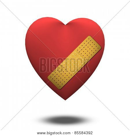 Classic Heart shape with bandage