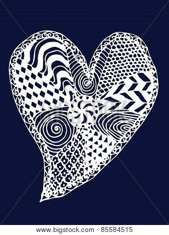 Heart Zentangle