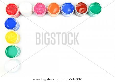 Colorful paint isolated on white