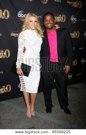 LOS ANGELES - MAR 16:  Witney Carson, Alfonso Ribeiro at the