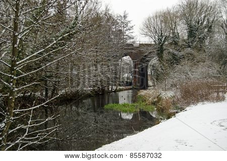 Basingstoke Canal with Snow