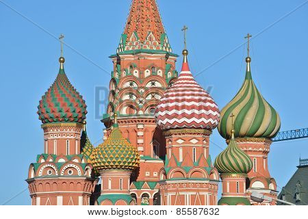 Domes Of St. Basil's Cathedral On Red Square.