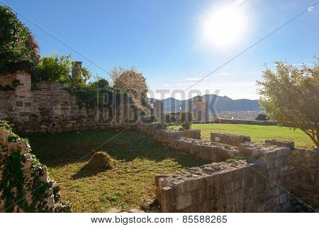 Ruins Of Stari Grad Bar In Montenegro