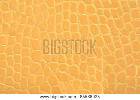 Yellow Embossed Leather Texture Background