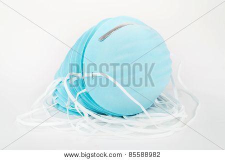 Stack of Blue Dust Masks.