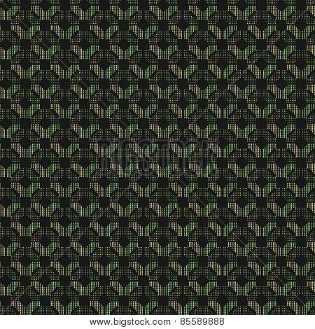Colored Geometrical Pattern With Green And Orange Dotted Squares