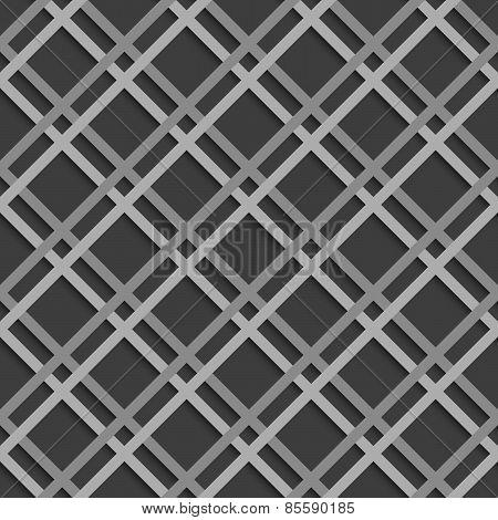 Geometrical Pattern With White Beveled Lattice Net