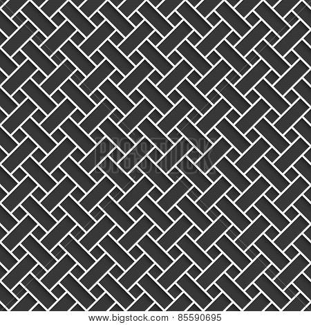 Geometrical Pattern With White Lattice On Dark Gray