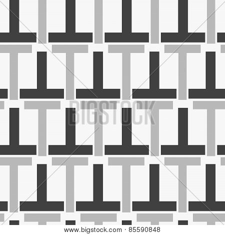 Monochrome Pattern With Black Gray  T Shapes