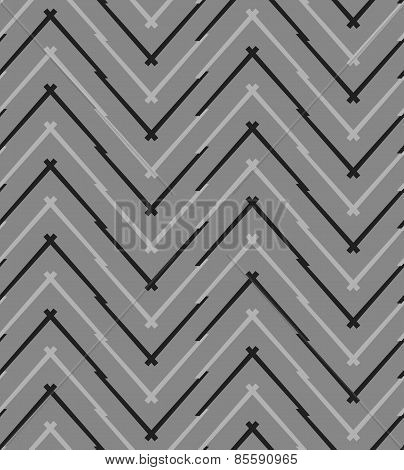 Monochrome Pattern With Gray And Black Chevron Lines