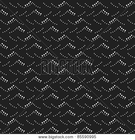 Monochrome Pattern With Gray And Black Dotted Sea Waves Texture