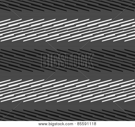 Monochrome Pattern With Light Gray And Black Diagonal Blade Shapes