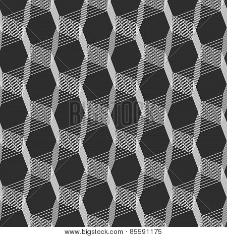 Monochrome Pattern With Light Gray Intersecting Thin Lines On Gray