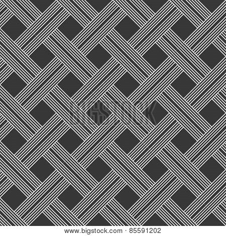 Monochrome Pattern With Light Gray Striped Lattice On Dark Gray