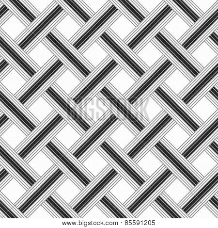 Monochrome Pattern With Light Gray Striped Lattice On White