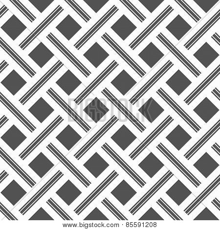 Monochrome Pattern With Light Gray Stripes And Gray Squares