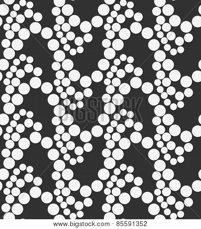 Monochrome Pattern With White Circles On Gray