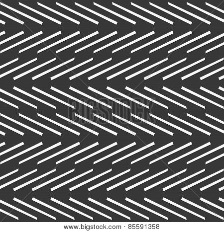 Monochrome Pattern With White Diagonal Short Lines