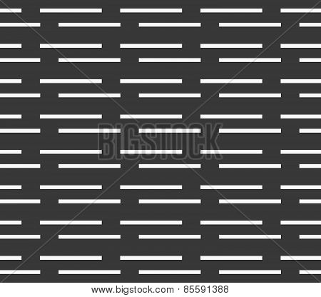 Monochrome Pattern With White Horizontal Brick Stripes