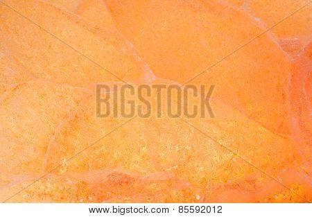 Orange Colored Ice Texture