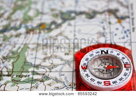 Equipment For Travel - Map And Compass.