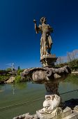 picture of garden sculpture  - Sculpture of young man in Island Fountain  - JPG