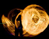 stock photo of fiery  - Gasoline Dance Fiery Motion  - JPG