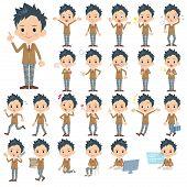 foto of blazer  - Set of various poses of school boy wearing a Blazer - JPG
