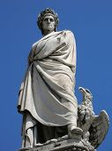image of alighieri  - sculpture of dante alighieri - JPG