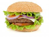picture of beef-burger  - Fresh burger with beef - JPG