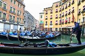 picture of gondola  - VENICE ITALY December 28 2010 - JPG