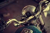 picture of motorcycle  - Old motorcycle with a good vintage - JPG